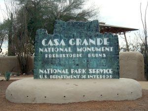 Entrance Sign to Casa Grandes National Monument